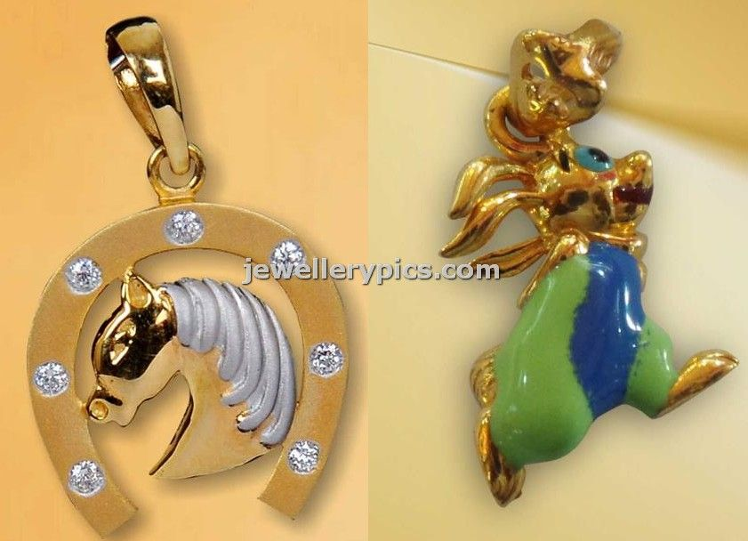 Little Nathella kids cute gold pendent designs collection - Latest ...