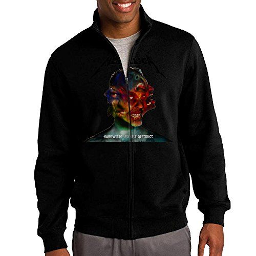 Jacob Mens Sweatshirt Metallica Vintage Fullzip Hoodie Jacket XXL Black >>> Find out more about the great product at the image link.
