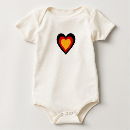 Germanygerman flag inspired hearts baby bodysuit negle Images