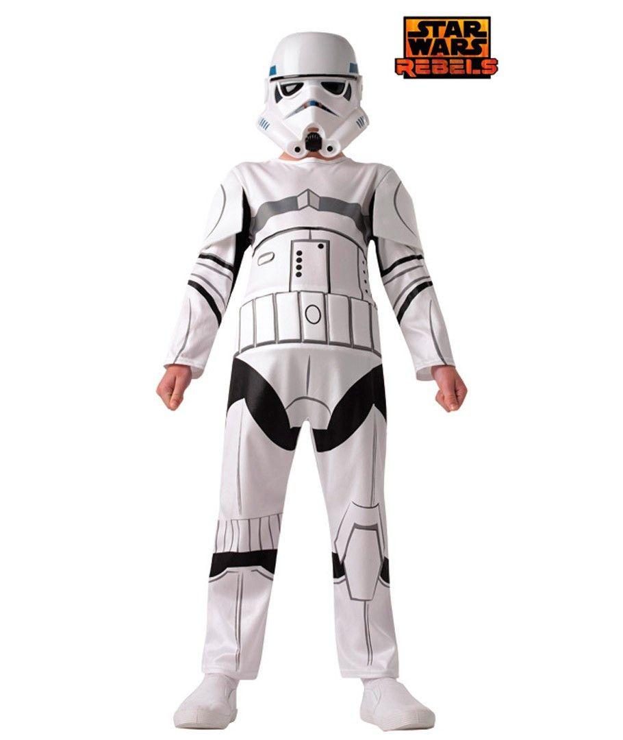 Stromtrooper Costume Kids Star Wars Halloween Fancy Dress