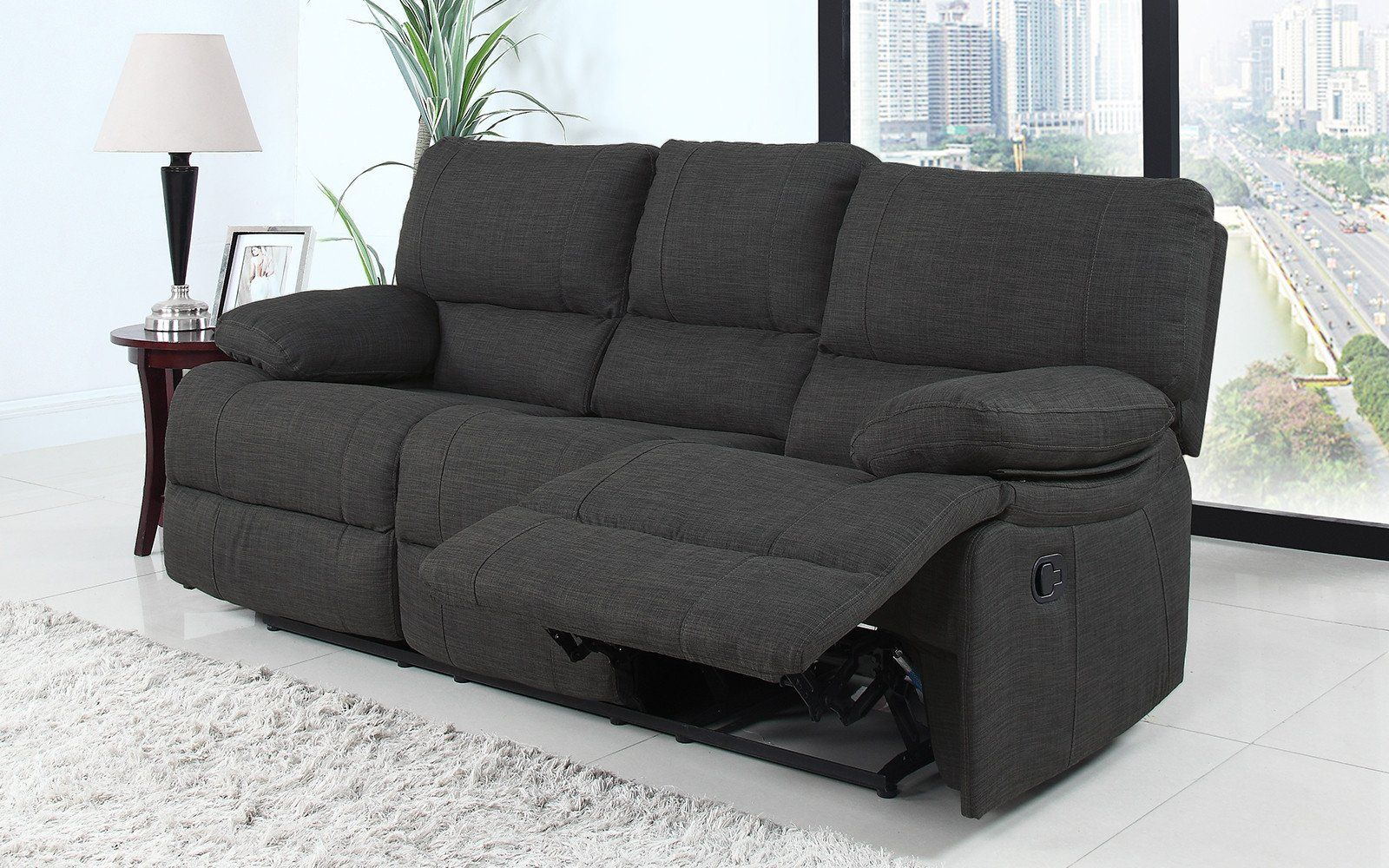 Athens Traditional Fabric Recliner Sofa Lifestyle Recliner Chair