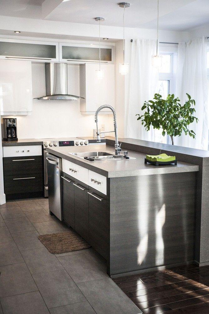 Armoires design plus comptoir et tuiles kitchen dining en 2019 armoire de cuisine - Armoire de salle a manger ...