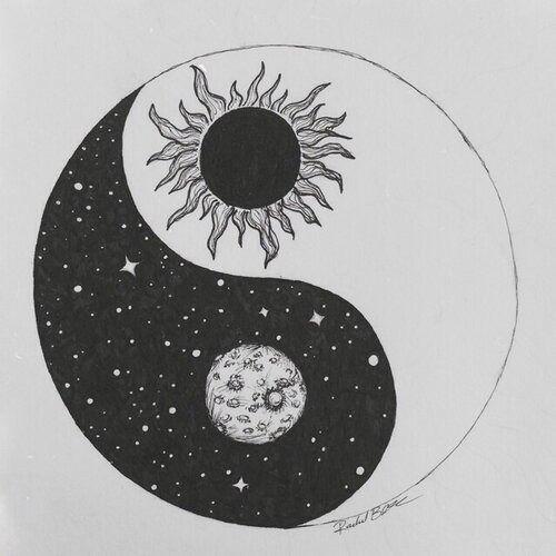 Ying Yang Sun Moon Me You Black White Tattoo Yin Yang Tattoos Yin Yang Tattoos