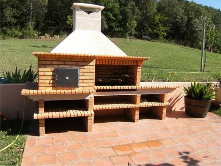 Barbecue Fai Da Te In Muratura Zahradní Kuchyně Posezení