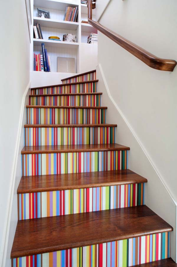 60 creative ways to showcase wallpaper on your walls stairway to rh pinterest com