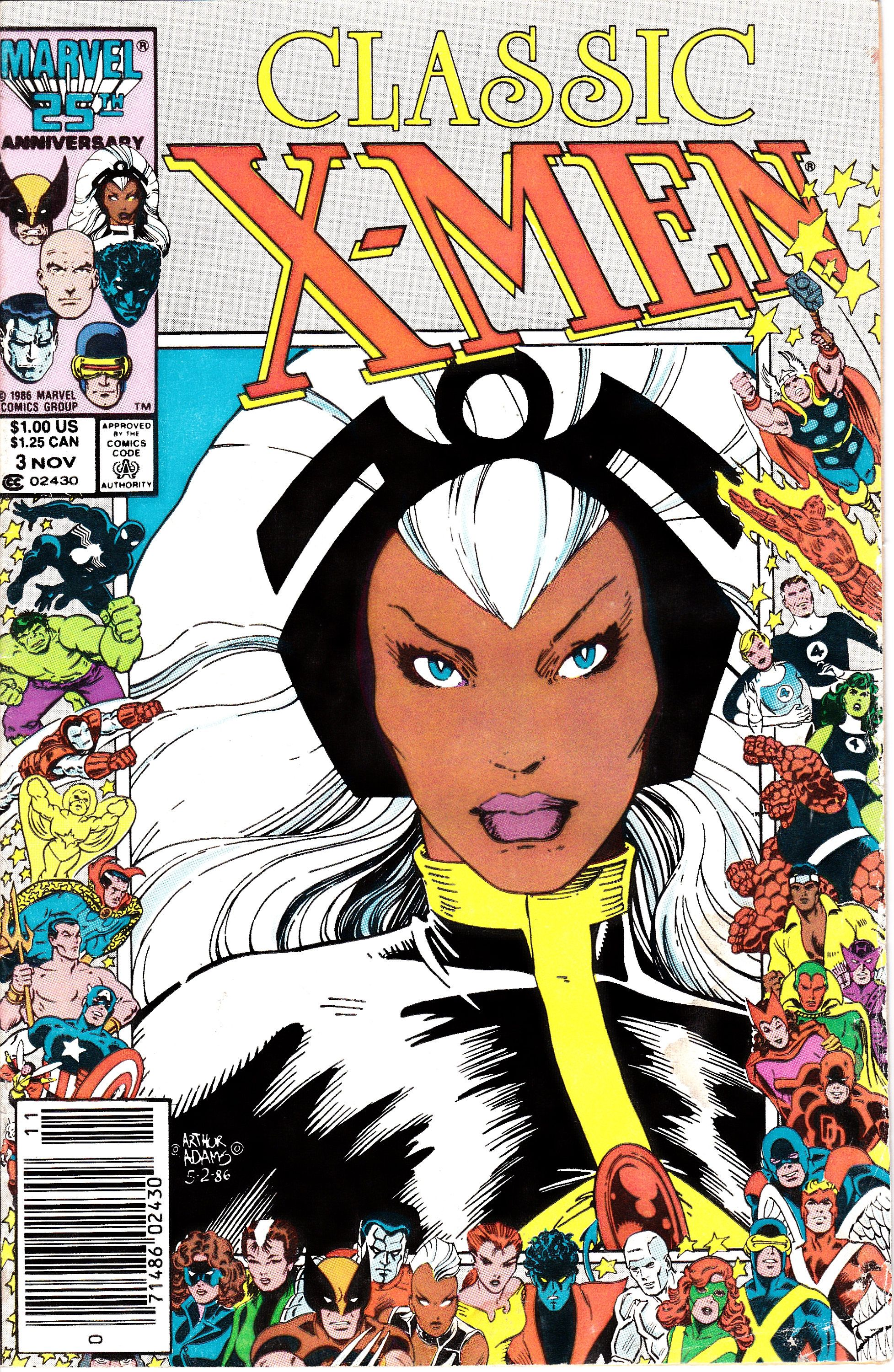 X Men Classic 3 1986 Classic X Men Nov 1986 Marvel Comics Grade Vg Marvel Comics Covers Comic Book Superheroes Comic Covers
