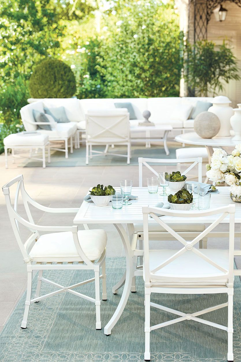 Suzanne Kasler White Outdoor Table White Outdoor Furniture