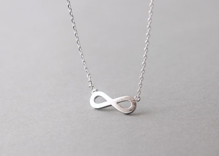 Surface Silver Infinity Necklace Infinity Symbol Infinity And