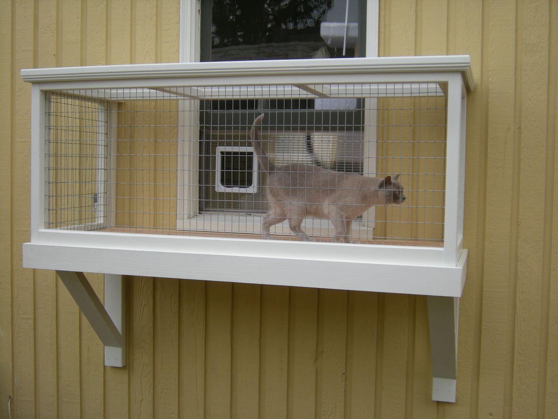 Diy Catio Plan The Window Box Catio Plans Diy Cat Enclosure Cat Enclosure Cat Cages