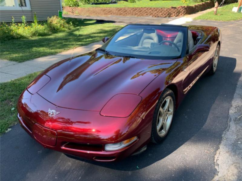 2003 Corvette Convertible For Sale In Us 2003 Anniversary Red And One Owner Corvette Corvette Convertible Chevy Corvette For Sale