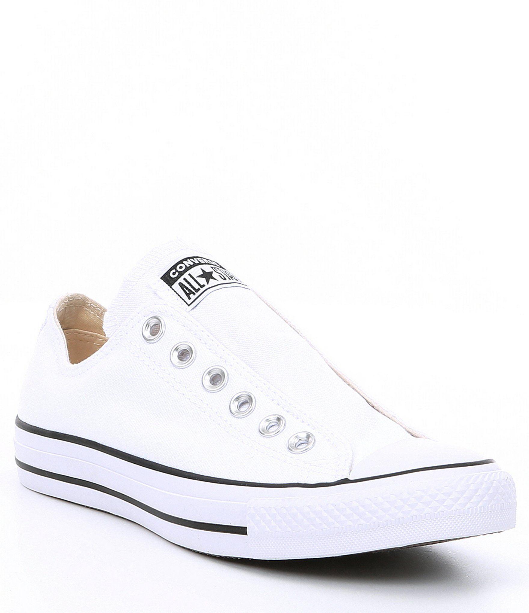 Converse Women's Chuck Taylor All Star Slip On Sneakers - Midnight Turquoise/Black/White 7M #whiteallstars