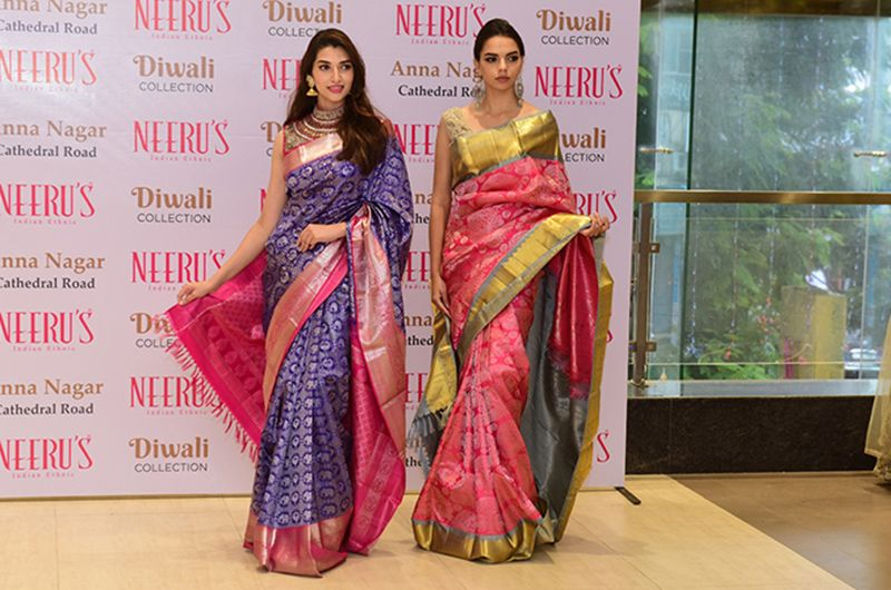This festive season indulge in a royal spread of gorgeous Diwali and Wedding Collection at Neeru's Anna Nagar Store