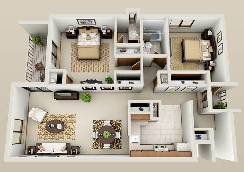 two bedroom apartment floor plans - Google Search | Ètelek ...