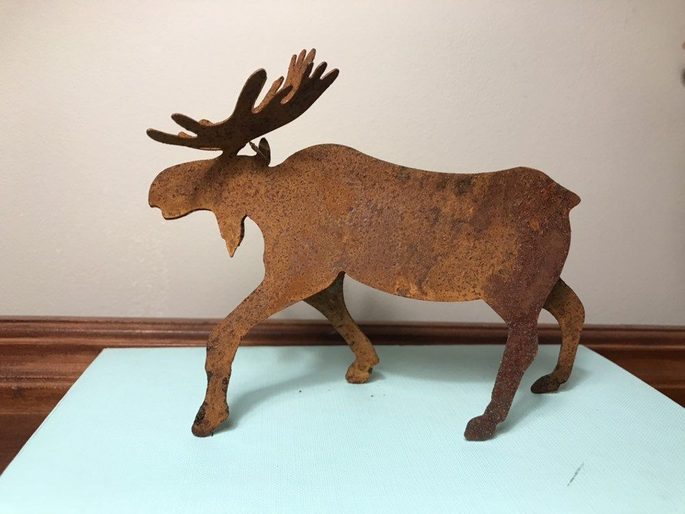 Rusty Moose Decor Small Metal