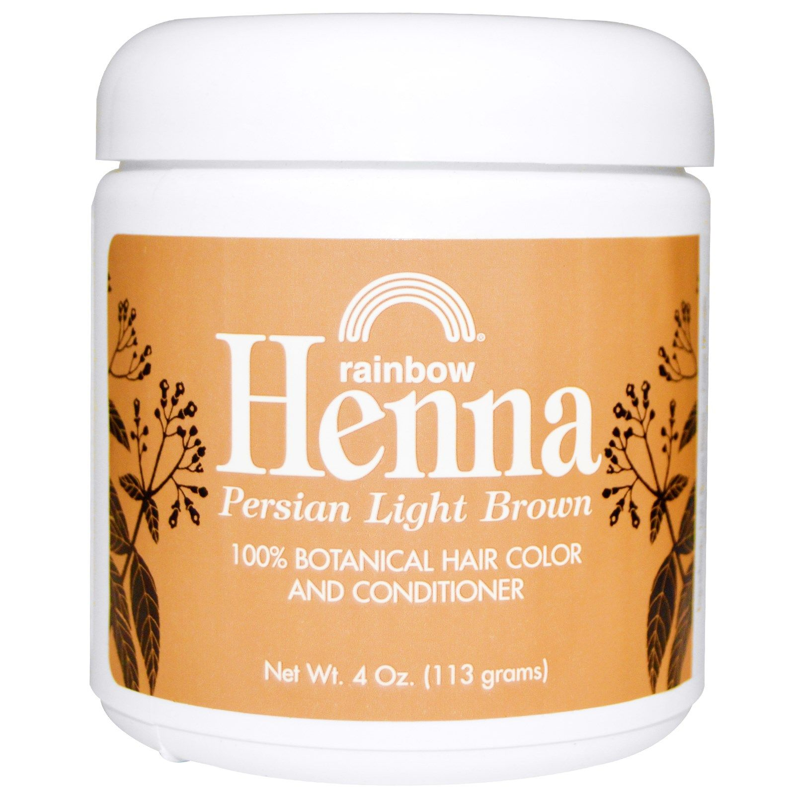Rainbow Research Henna 100 Botanical Hair Color And Conditioner Persian Light Brown 4 Oz 113 G Powder Hair Color Botanical Hair Does Hair Dye Expire