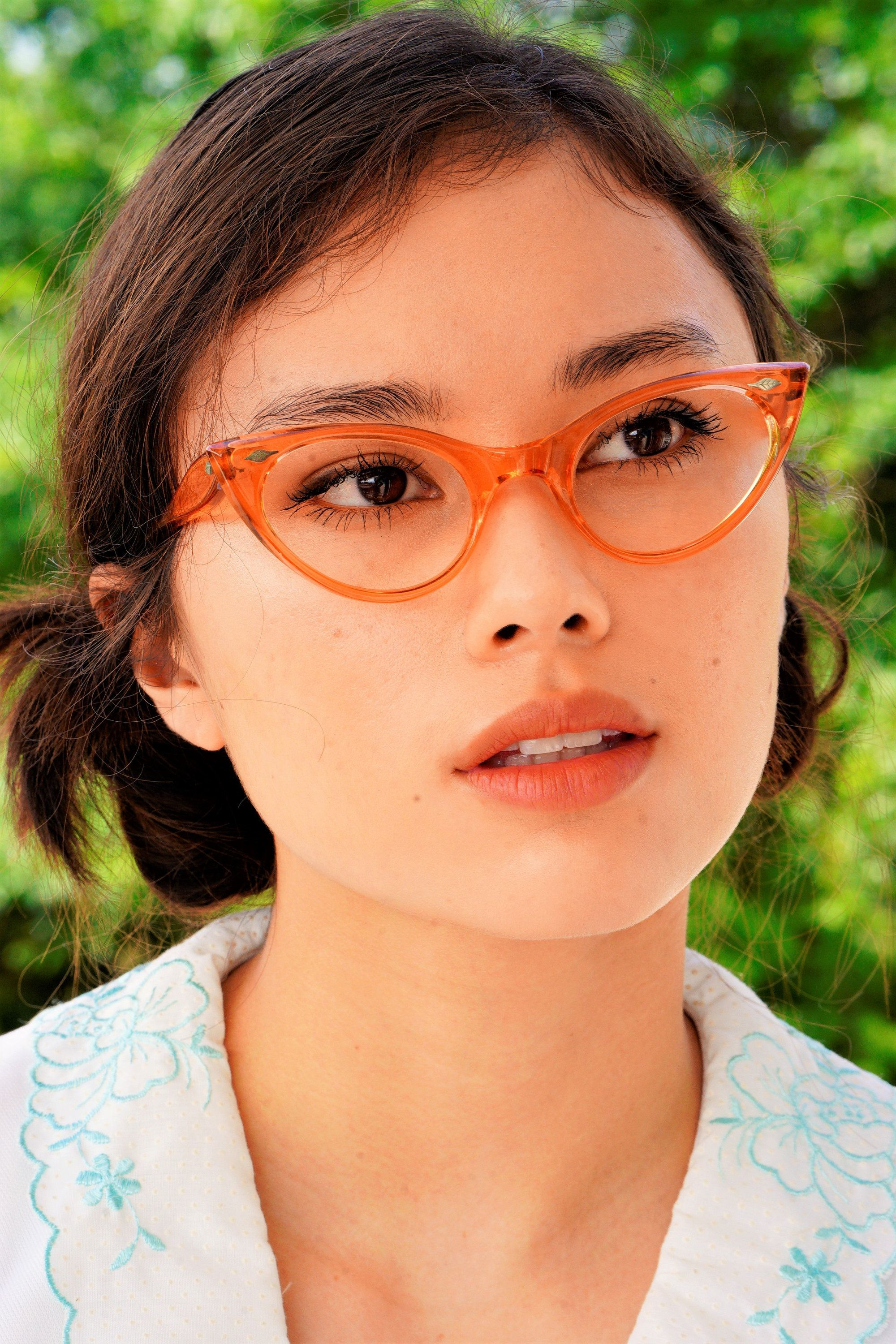 bff86b73226 ...  madei Vintage Cat Eye Glasses 1960s Cateye Frames Made in USA  Translucent Tone eyeglasses New Old Stock Rockabilly Pinup by  hisandhervintage on Etsy