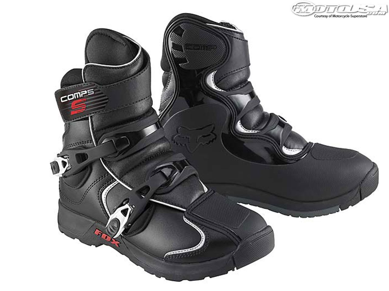 2008 Fox Racing Comp 5 Shorty Boots Boots Motorcycle Boots Fox Motocross Gear