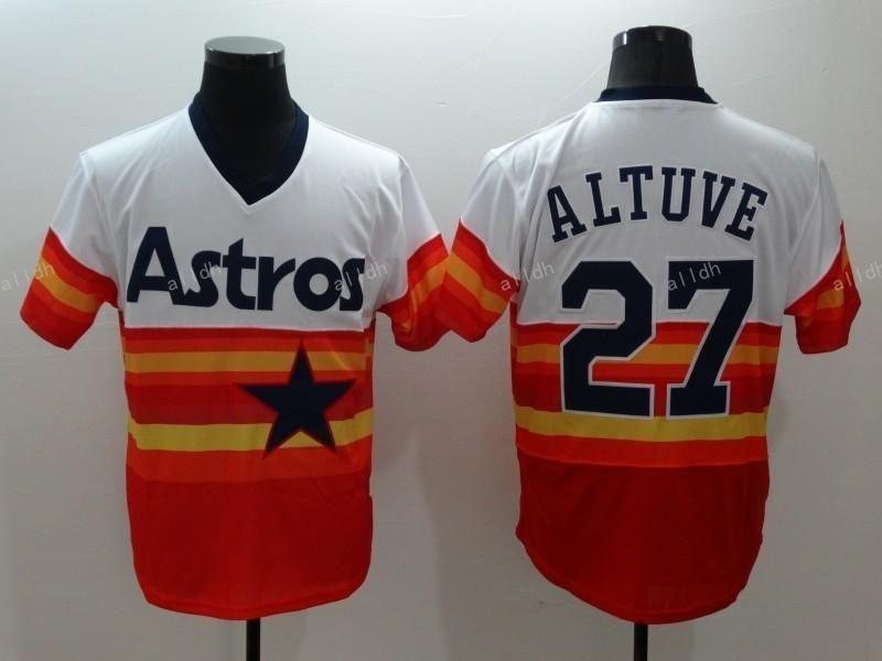 hot sale online 93628 ba323 $18.56--3X-- Houston Astros #27 Jose Altuve Orange Tuve ...