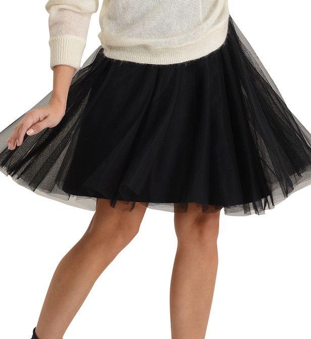 55818c385691b4 Jupe genoux évasée en tulle   Mode Femme   Jupe, Tulle et Genoux