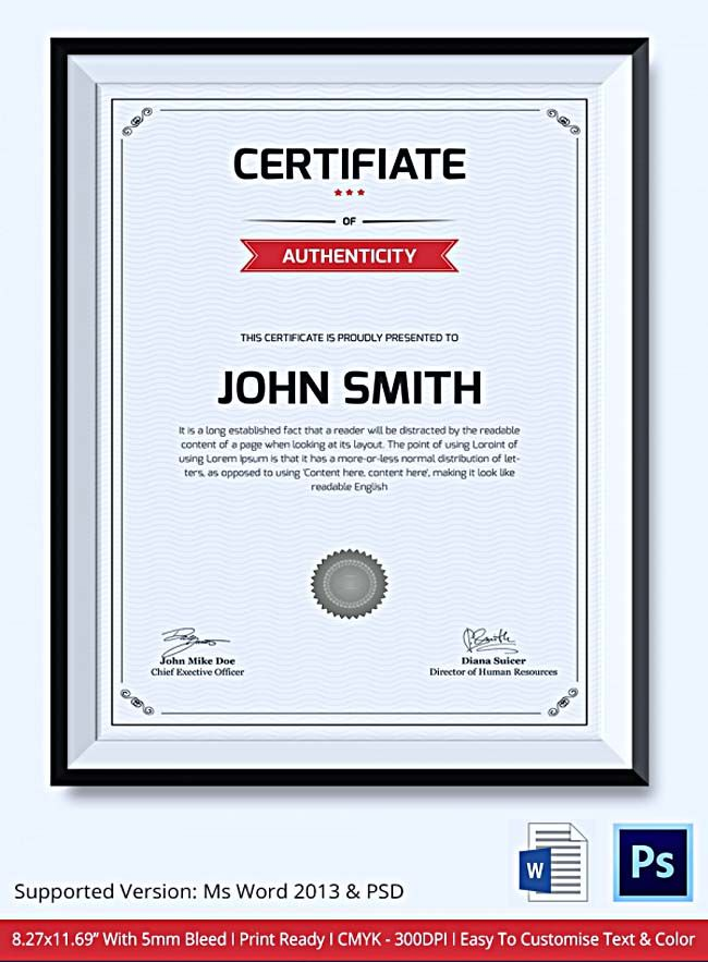Certificate of Authenticity Template What Information to Include - certificate of authenticity template