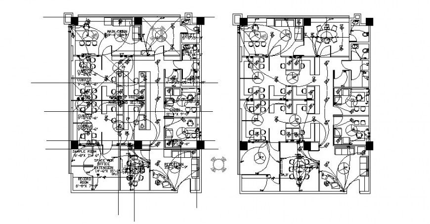 electrical layout plan details for ground and first floor Electrical Print Reading