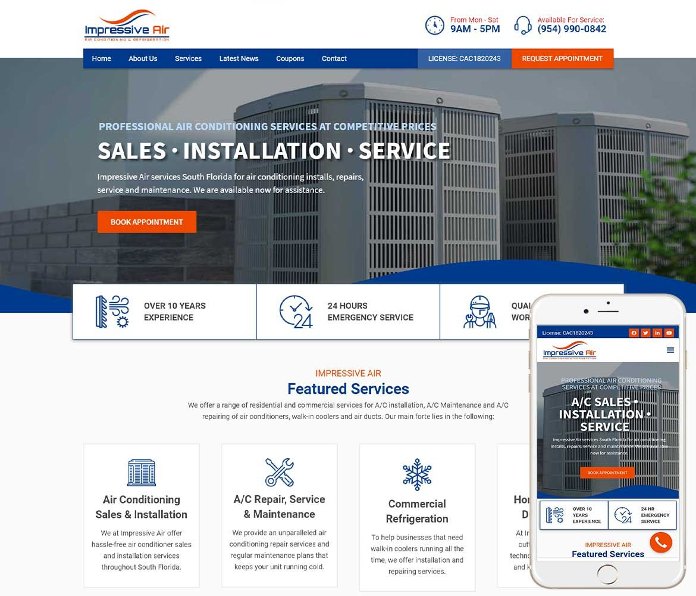 Air Conditioning Website Design In 2020 Website Design Custom Website Design Web Design Studio