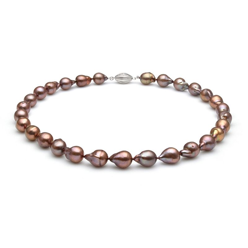 Pearl Cabana - Enjoy Your Stylish Life With Fine Pearl Jewelry - Pearl Cabana Exotic Edition 10-12mm Chocolate Baroque Pearl Necklace