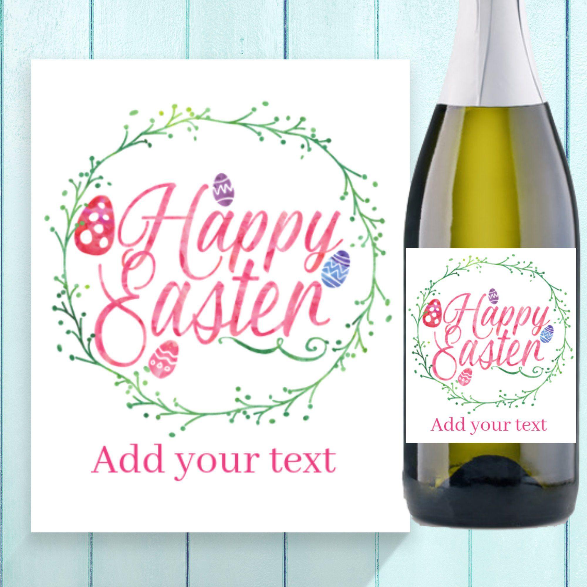 New Custom EASTER Wine Label