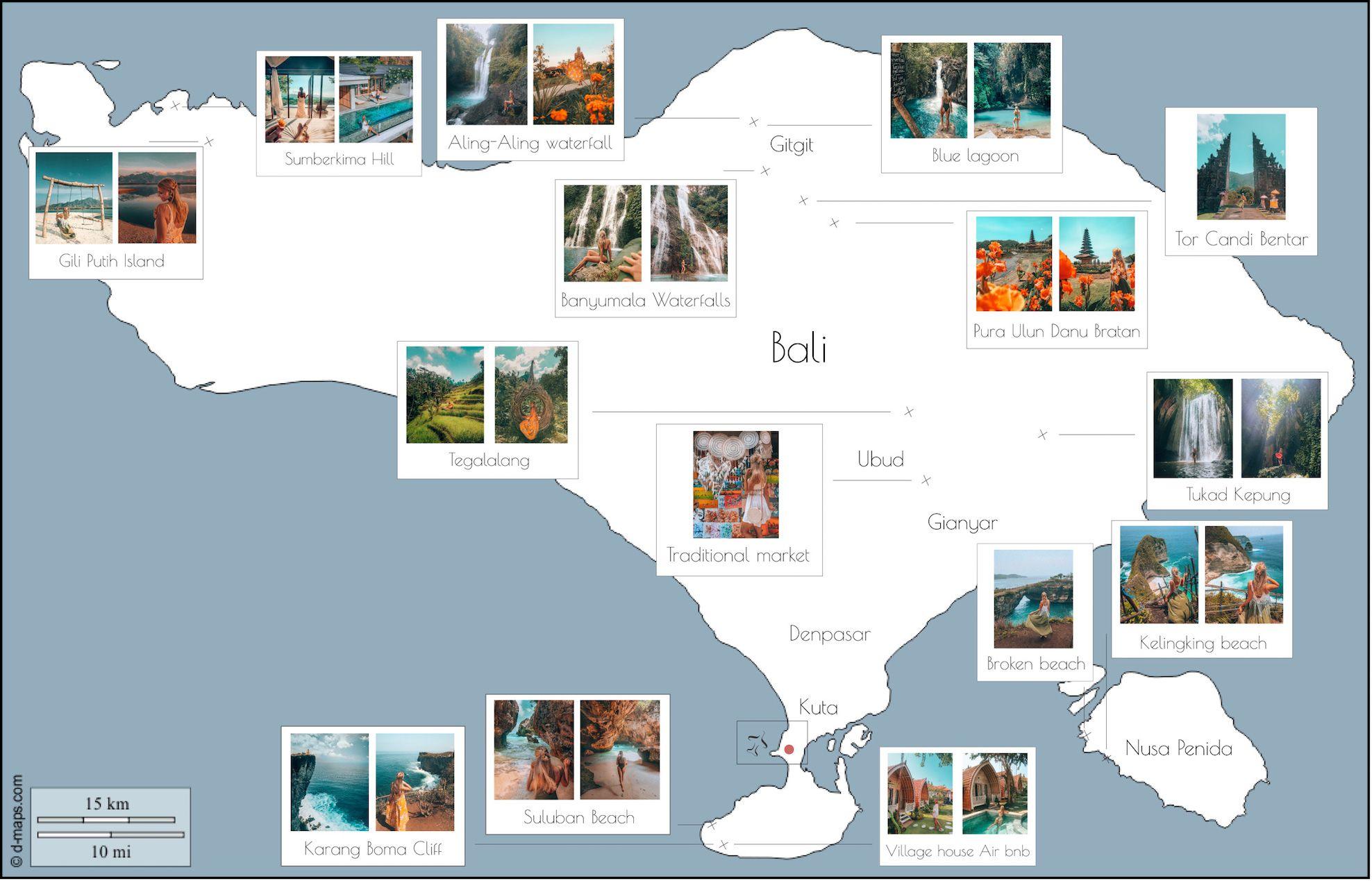 Rundreise Bali Sehenswurdigkeiten Bali Karte Rundreise Bali Rundreise Bali Reisen