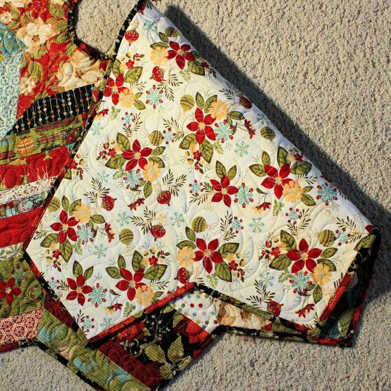Christmas Tree Skirt Quilt 53 Inch Jovial Strings