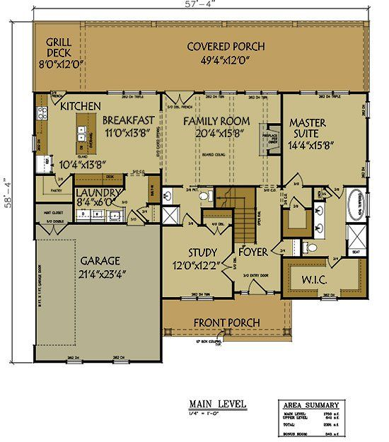 3 bedroom floor plan with 2 car garage Plan design Open floor and