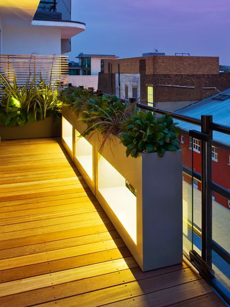 #floating #roof #terrace #planters Mylandscapes Garden