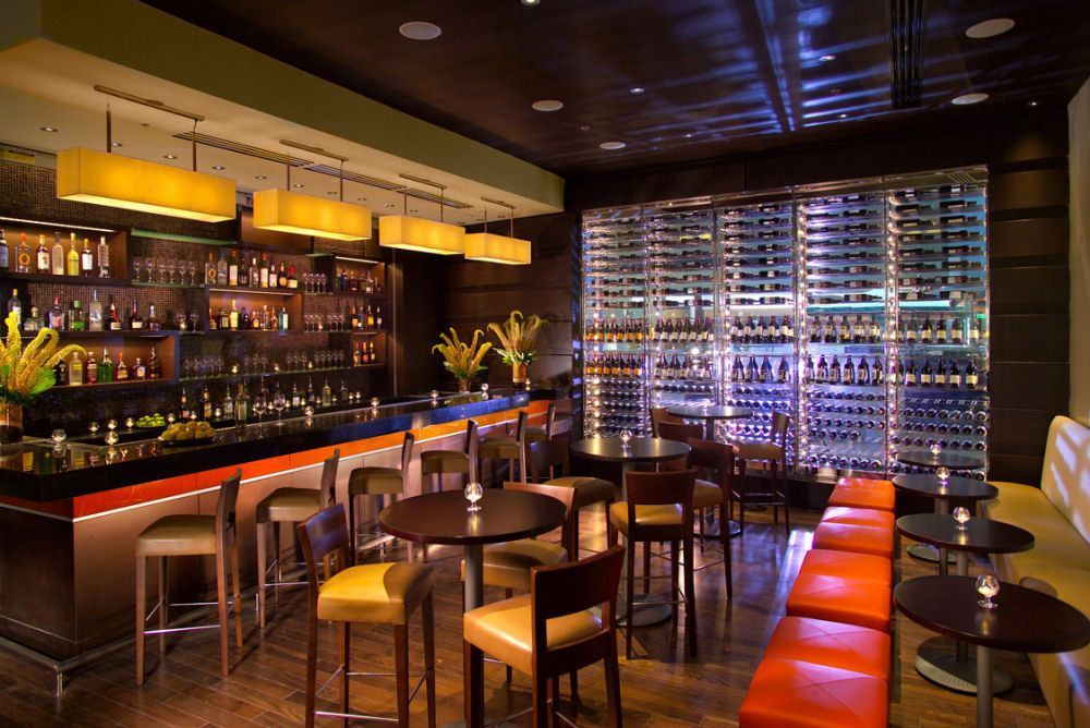 Marriott Marquis design Interior Bar Architecture Design | Bar ...