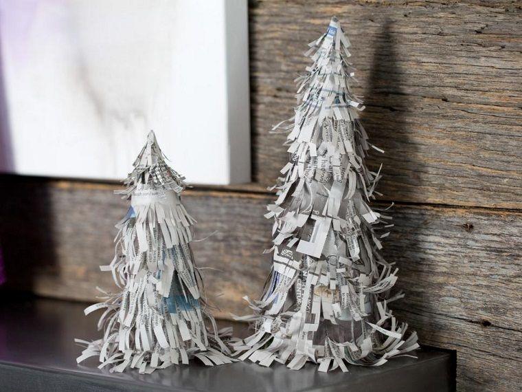 Manualidades de navidad originales arbol papel periodico - Manualidades originales de navidad ...