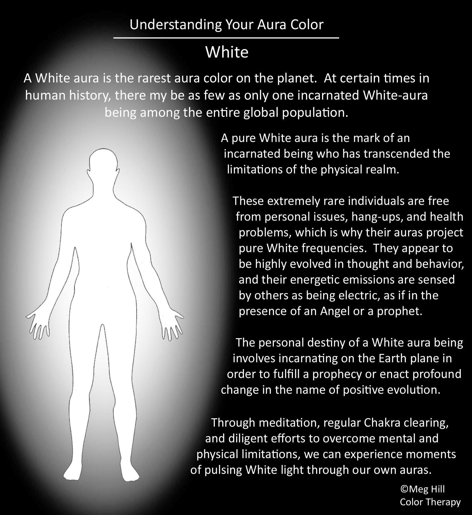 Understanding Your Aura Color White Aura Colors Aura Colors Meaning Aura
