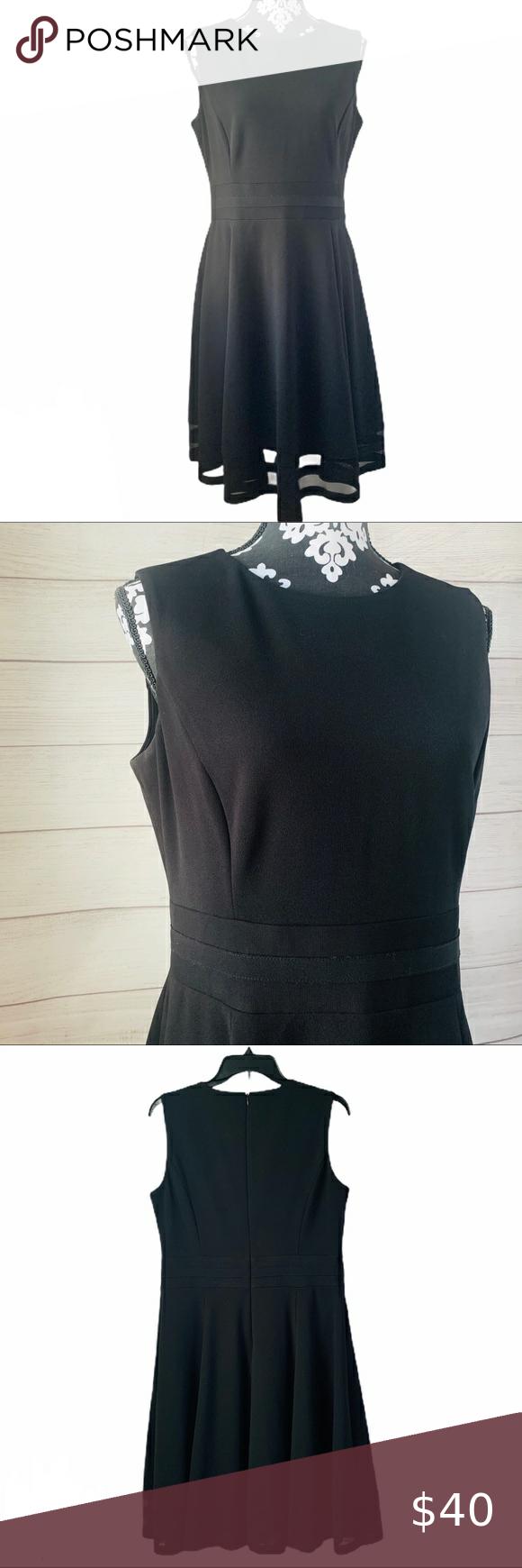 Calvin Klein Fit Flare Black Dress Size 12 Black Dress Clothes Design Fit Flare [ 1740 x 580 Pixel ]