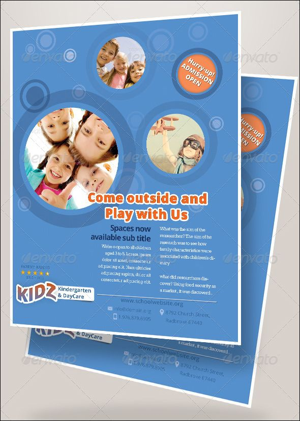 20+Modern Baby Daycare Flyer PSD Mockups ! Flyer template, Clean - Daycare Flyer Template