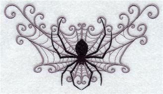 halloween spider web spray embroidered terry by embroiderybydonnag 1499