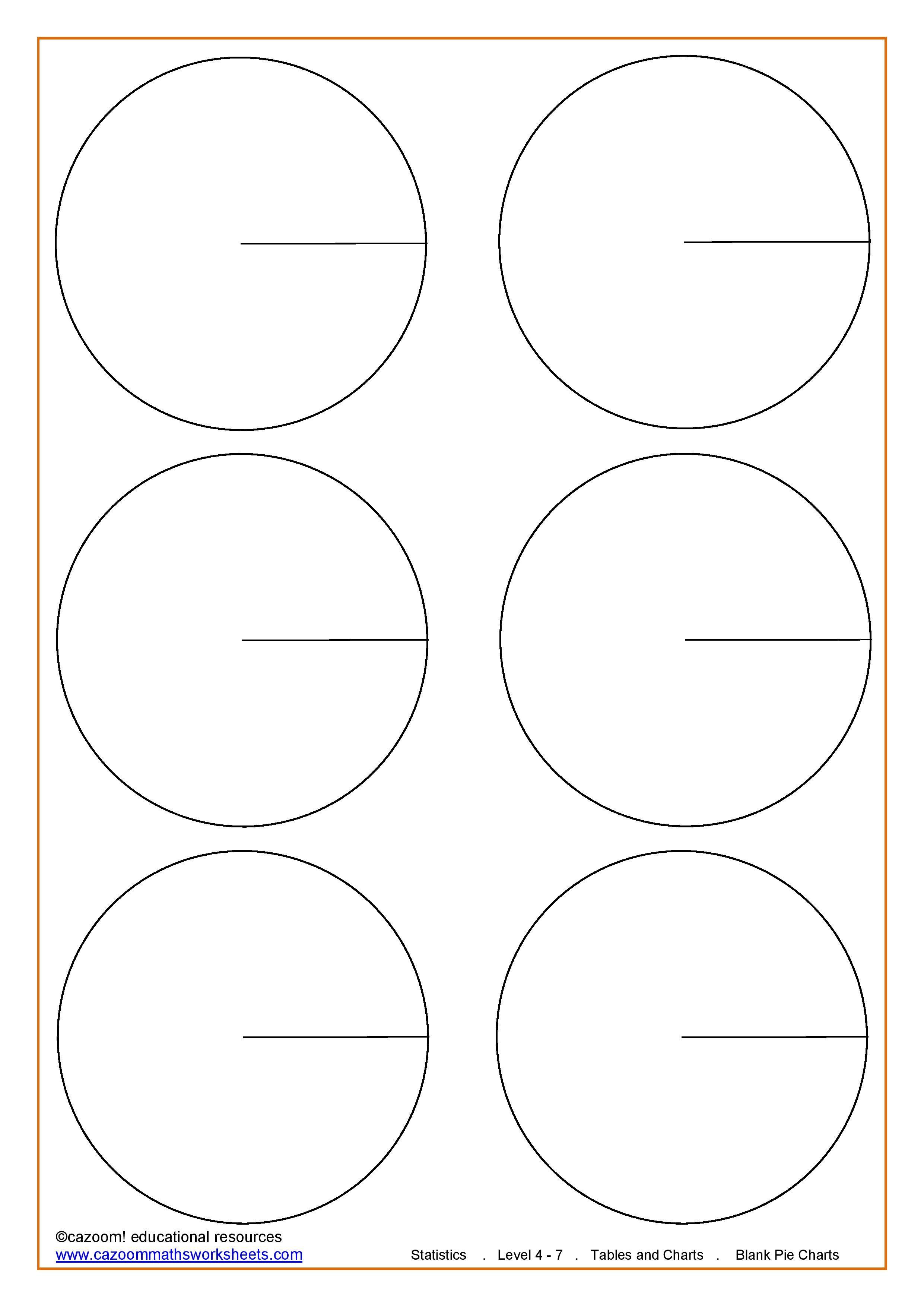 pie chart template worksheet - The future [ 3507 x 2481 Pixel ]