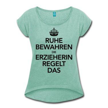 Girlie Shirt Funshirt Beruf Geschenk Jubiläum ICH BIN GERNE ERZIEHERIN..