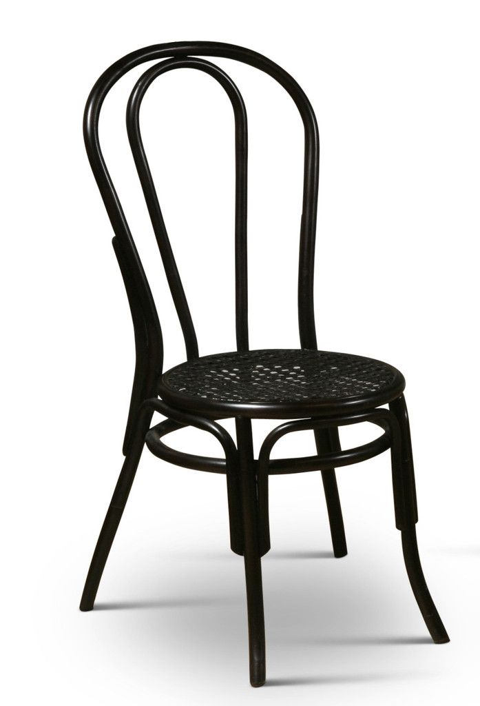 Thonet Style Bentwood Rattan Chairs In Black Good Looking
