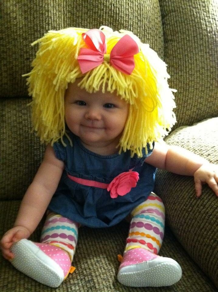 Baby Cabbage Patch Doll Halloween costume, she made the perfect baby ...