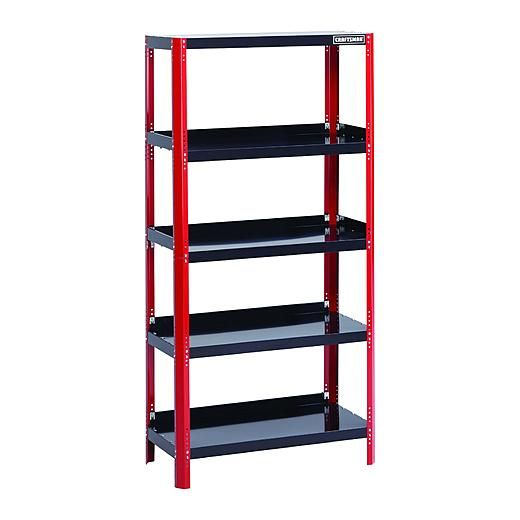 Craftsman 36 Wide Steel Shelving Unit Red Black Steel Shelving Unit Steel Shelving Shelving Unit