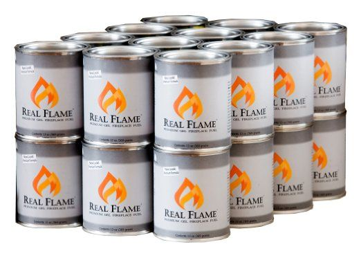 Amazon.com: Real Flame Gel Fuel - 13 oz cans; 24-Pack: Patio, Lawn & Garden