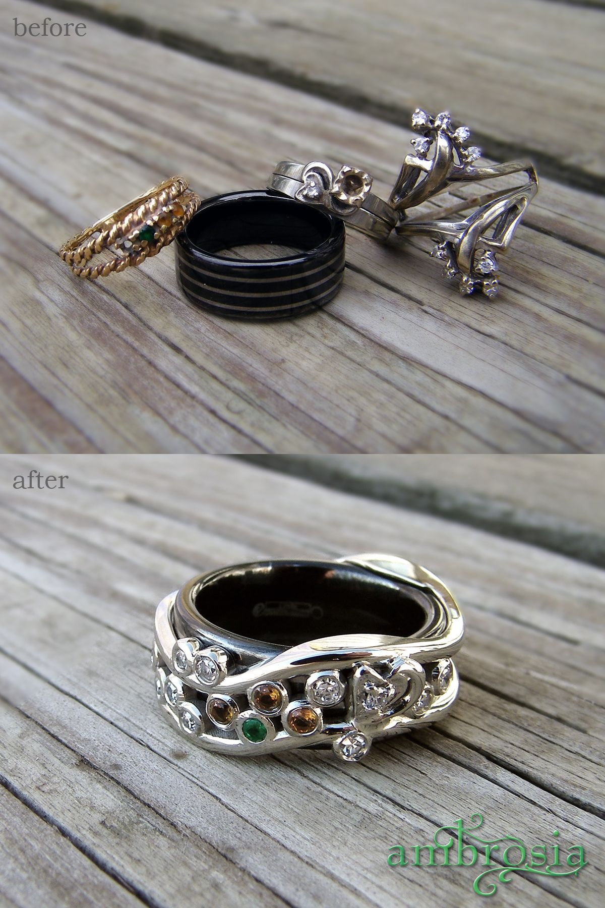 This Family Ring Was Redesigned From Several Rings Inherited Over The  Years The Black