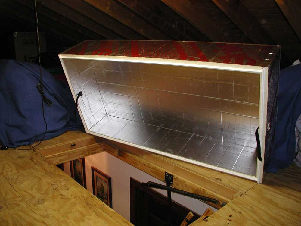 The Therma Dome Perfectly Fits Your Attic Stair Door Because It S Fully Customizable Order Your Kit Today Attic Renovation Attic Stairs Attic Stair Insulation