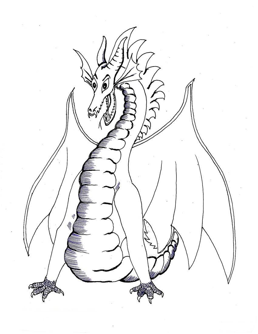 Dragon Coloring Pages Realistic Coloring Pages