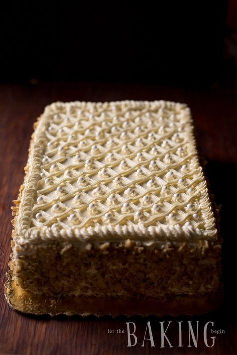 Markiza Cake (Marquise Cake) - Let the Baking Begin! #napoleonkuchenrussisch