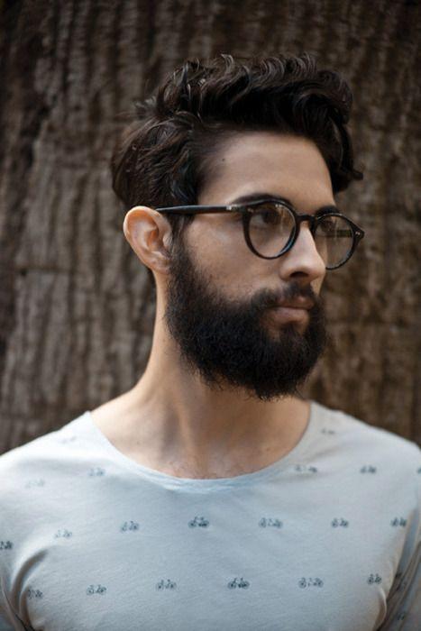 Haircut, beard, frame. Great style.