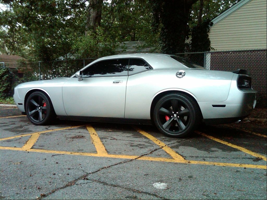 Silver Dodge Challenger With Blacked Out Srt 8 Rims Cars